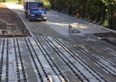 Aanleg oprit betontegels Kortrijk - West-Vlaanderen