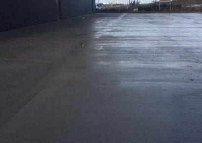 Aanleg parking beton