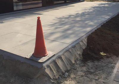 Aanleg terras Oostende - betontegels
