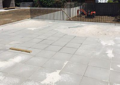 Aanleg terras betontegels