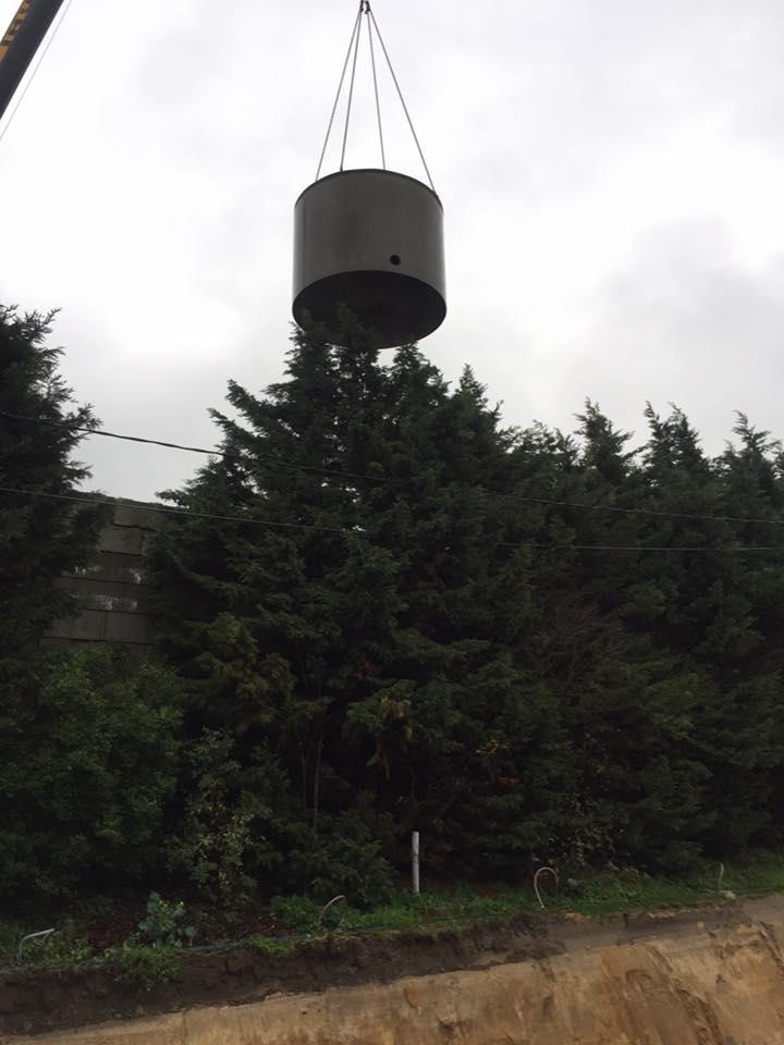 Grondwerken regenput plaatsen West-Vlaanderen